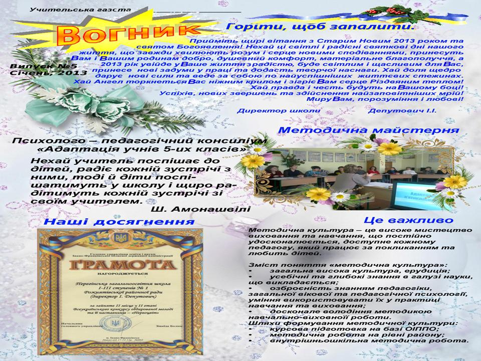 Профілізація Перегінської школу №1